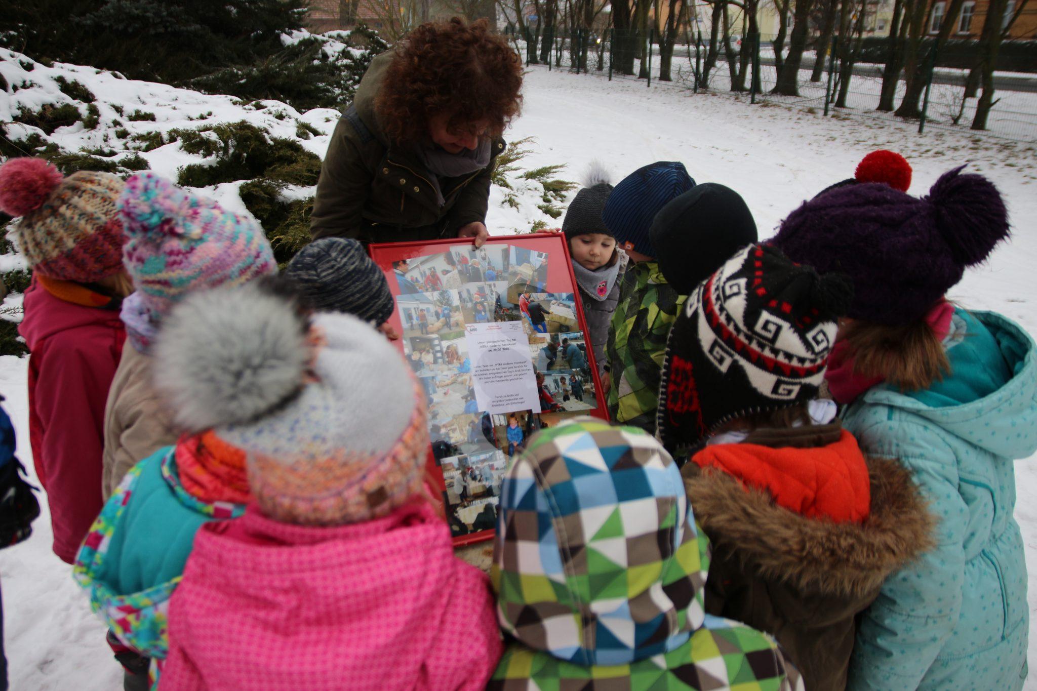 """Eröffnung der Vogeltränke im Kinderhaus """"Am Elsterbogen"""" « awo lausitz"""
